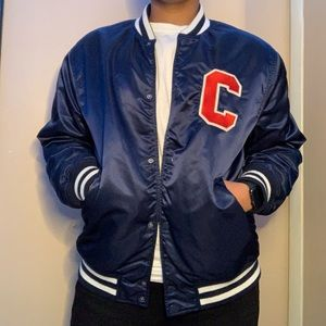 Blue Varsity Embroidered Jacket